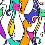 Bezszwowy wzór Geometryczni Abstrakcjonistyczni koty ilustracji