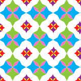 Bezszwowy wzór geometryczni kształty Obrazy Stock