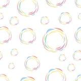 Bezszwowy wzór kolorów okręgi Obraz Stock