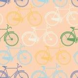 Bezszwowy wzór kolorowi bicykle. Mieszkanie styl Fotografia Royalty Free