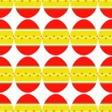 Bezszwowy wzór kolorowi jaskrawi dekorujący jajka royalty ilustracja