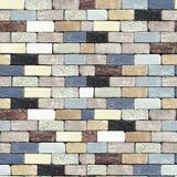 Bezszwowy wzór kolorowy ściana z cegieł Obraz Stock