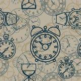 Bezszwowy wzór komponujący wizerunek godziny Obraz Stock