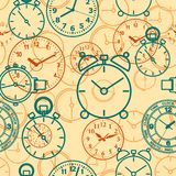 Bezszwowy wzór komponujący wizerunek godziny Zdjęcie Stock