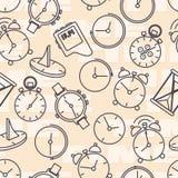 Bezszwowy wzór komponujący wizerunek godziny obraz royalty free