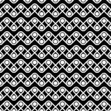 Bezszwowy wzór kropki i linie geometryczny tło ilustracja wektor
