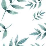 Bezszwowy wzór liście i gałąź royalty ilustracja