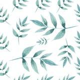Bezszwowy wzór liście i gałąź ilustracja wektor