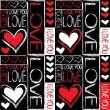 Bezszwowy wzór miłość Obrazy Royalty Free