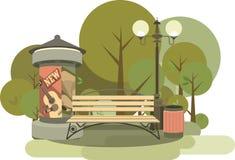 Bezszwowy wzór miasto park royalty ilustracja