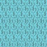 Bezszwowy wzór na błękitnym tle z kwiecistym Ilustracja Wektor