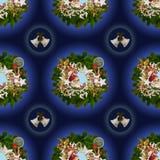 Bezszwowy wzór na boże narodzenia theme-6 zdjęcia royalty free