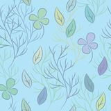 Bezszwowy wzór na liścia temacie Obrazy Stock