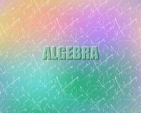 Bezszwowy wzór na temacie algebra ilustracji