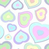 Bezszwowy wzór od kolorów serc Fotografia Royalty Free