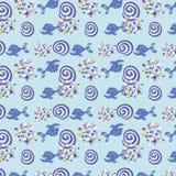 Bezszwowy wzór od oceanicznej rybiej końcówki inni elements/ Zdjęcie Stock