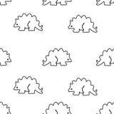 Bezszwowy wzór od stegozaura Fotografia Stock