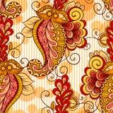 Bezszwowy wzór opierający się na tradycyjnym azjata ilustracja wektor