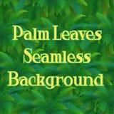 Bezszwowy wzór, palma liście Fotografia Stock