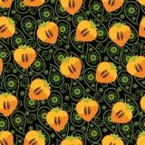 Bezszwowy wzór persimmon i Paisley Obrazy Royalty Free