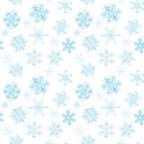 Bezszwowy wzór pociągany ręcznie czarno biały płatek śniegu Obrazy Stock