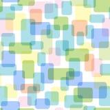 Bezszwowy wzór pokrywać się prostokąty Zdjęcia Stock