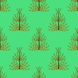 Bezszwowy wzór prehistoryczny rośliny horsetail dla tkanin, papier, tapeta Obrazy Stock