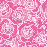 Bezszwowy wzór różowe róże z białymi liniami Fotografia Stock