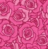 Bezszwowy wzór różowe róże z Burgundy wykłada Obraz Stock