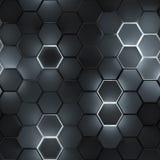 Bezszwowy wzór rozjarzeni sześciokąty 3D odpłaca się zdjęcia royalty free