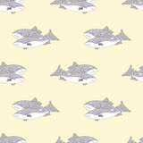 Bezszwowy wzór ryba Obraz Stock