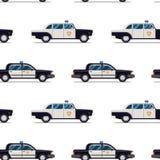 Bezszwowy wzór samochody policyjni Obraz Stock