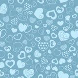 Bezszwowy wzór serca Zdjęcia Stock