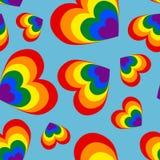 Bezszwowy wzór serca w kolorach społeczność na a ilustracja wektor