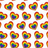 Bezszwowy wzór serca w kolorach społeczność na a ilustracji
