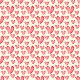 Bezszwowy wzór serca w pastelowych kolorach Tileable tło Zdjęcia Royalty Free