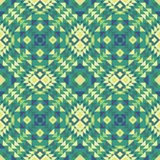Bezszwowy wzór styl etniczna tkanina w zielonych kolorach Obraz Royalty Free