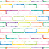 Bezszwowy wzór stylizowany multicolor ściana z cegieł Zdjęcia Stock