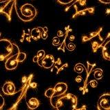 Bezszwowy wzór Szczęśliwy nowy rok - 2017 z sparklers Zdjęcia Stock