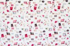 Bezszwowy wzór, szwalny akcesoria tkaniny tło. zdjęcia royalty free