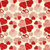 Bezszwowy wzór texture_6_in styl Doodle, w postaci różnorodność serc dla druku projekta i sieć projekta ilustracja wektor
