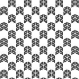 Bezszwowy wzór trójboki i strzała geometryczny tło Zdjęcie Royalty Free