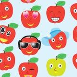 Bezszwowy wzór uśmiecha się jabłka Obraz Stock