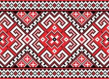 Bezszwowy wzór w czerwieni Fotografia Stock