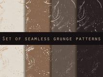 Bezszwowy wzór w grunge stylu Kawowy kolor Set Dla tapety, łóżkowa pościel, płytki, tkaniny, tła Fotografia Royalty Free