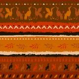 Bezszwowy wzór w indianina stylu ilustracja wektor