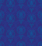 Bezszwowy wzór w Japońskim stylu z stylizowany geometrycznym i f Obraz Royalty Free
