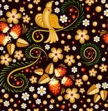 Bezszwowy wzór w Khokhloma stylu Royalty Ilustracja