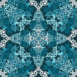 Bezszwowy wzór w mozaika etnicznym stylu. Zdjęcia Royalty Free
