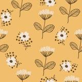 Bezszwowy wzór w scandinavian stylu Florar wzór dla druku na tapecie, prezenta papier, tkanina, papier Dwa kolor ilustracji